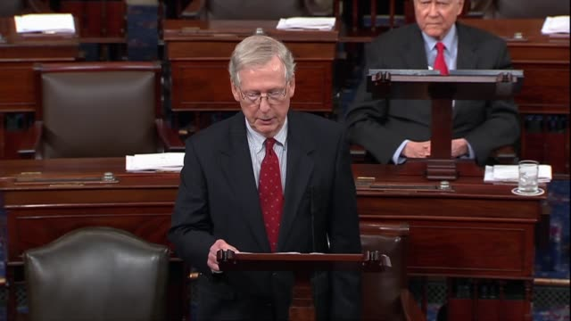 Senate Majority Leader Mitch McConnell of Kentucky continues a floor speech a day after a second sex abuse allegation made against Supreme Court...