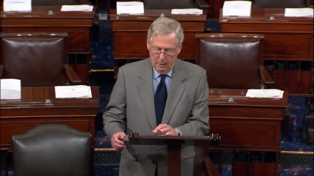 senate majority leader mitch mcconnell of kentucky discusses a crisis in the rohingya state of burma, then receiving international attention as a... - out of context stock videos & royalty-free footage