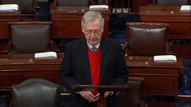 senate majority leader mitch mcconnell of kentucky says 12 hours after a partial government shutdown began that the crisis of national security at... - mexican american stock videos & royalty-free footage