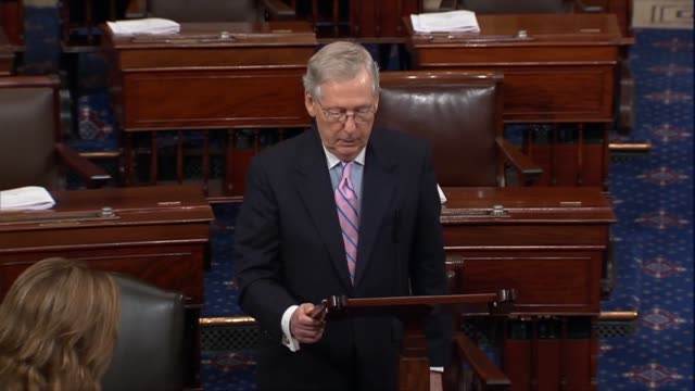 Senate Majority Leader Mitch McConnell of Kentucky says a fiscal 2019 spending package set to pass hours later accounts for over half federal...