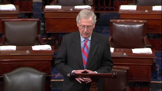 senate majority leader mitch mcconnell of kentucky says a week after his hearings that the american people saw an extremely impressive supreme court... - pinocchio stock videos & royalty-free footage