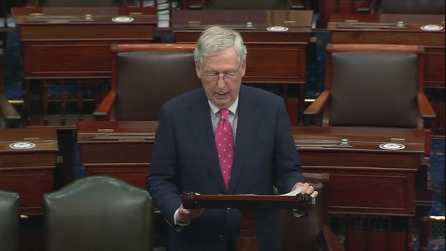 senate majority leader mitch mcconnell of kentucky says according to the defense department russian reconnaissance planes entered the alaska air... - united states department of defense stock videos & royalty-free footage