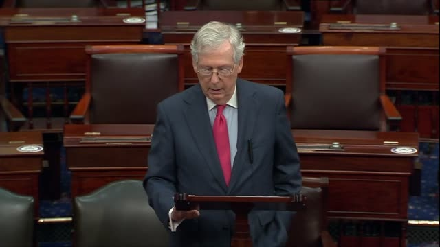 senate majority leader mitch mcconnell of kentucky says after meeting with seventh circuit judge amy coney barrett on her nomination to the supreme... - nomination stock videos & royalty-free footage