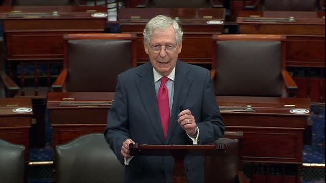 senate majority leader mitch mcconnell of kentucky says after meeting with seventh circuit judge amy coney barrett on her nomination to the supreme... - 評論家点の映像素材/bロール