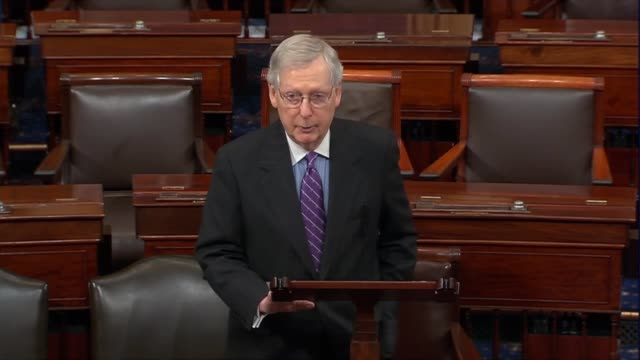 senate majority leader mitch mcconnell of kentucky says because of startling death threats against students of covington catholic high school was... - occurrence stock videos & royalty-free footage