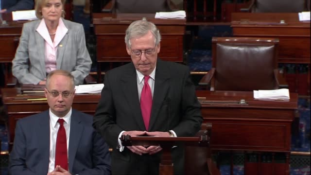 senate majority leader mitch mcconnell of kentucky says before a procedural cloture vote on the supreme court nomination of judge brett kavanaugh... - moulding a shape stock videos & royalty-free footage