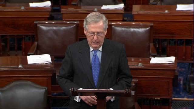 Senate Majority Leader Mitch McConnell of Kentucky says Congress was standing at the doorstep of a historic opportunity by voting on the conference...