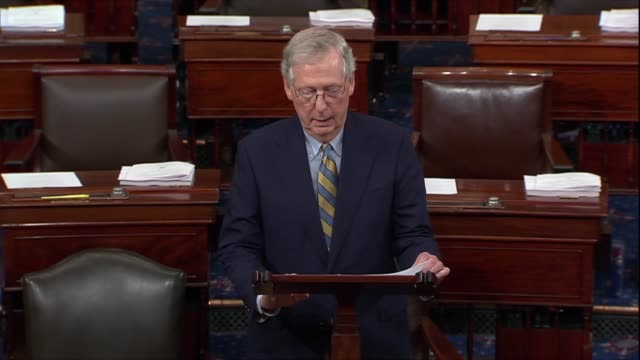 senate majority leader mitch mcconnell of kentucky says days after a renewed fbi background investigation into supreme court nominee judge brett... - testimony stock videos & royalty-free footage