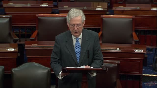 senate majority leader mitch mcconnell of kentucky says he had suggested both sides dropped controversial demands and for the coronavirus relief... - schizophrenia stock videos & royalty-free footage