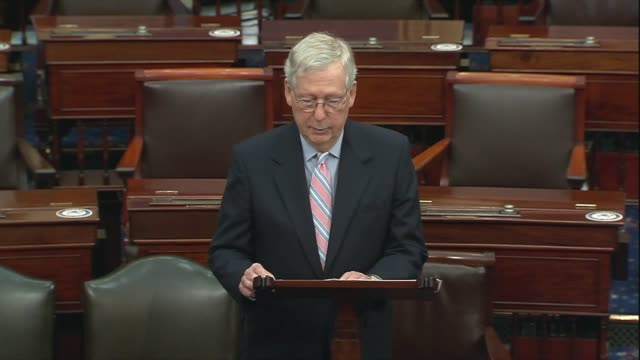 senate majority leader mitch mcconnell of kentucky says house majority leader steny hoyer admitted that 600 dollars is not a bust so to get past... - {{relatedsearchurl(carousel.phrase)}} stock-videos und b-roll-filmmaterial