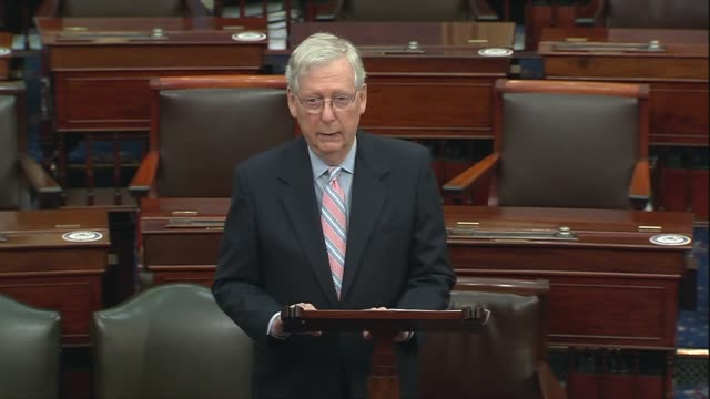 senate majority leader mitch mcconnell of kentucky says in discussing the heals act coronavirus relief bill very simple the partisan histrionics... - partisan politics stock videos & royalty-free footage