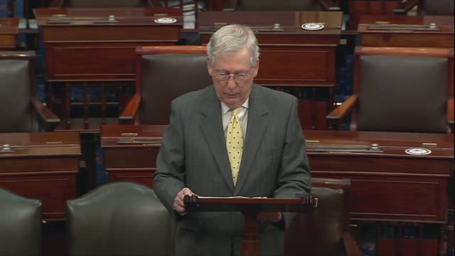 senate majority leader mitch mcconnell of kentucky says in floor remarks on the 31st anniversary of the tiananmen square massacre that the past few... - aggression点の映像素材/bロール