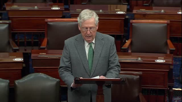 senate majority leader mitch mcconnell of kentucky says in floor remarks on coronavirus relief negotiations that university presidents had made clear... - partisan politics stock videos & royalty-free footage