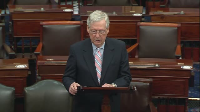 senate majority leader mitch mcconnell of kentucky says members were informed on the floor the republican money did not want the federal government... - politics and government stock videos & royalty-free footage