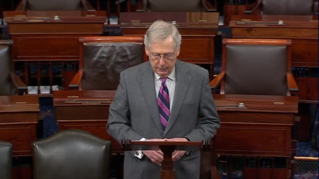 senate majority leader mitch mcconnell of kentucky says on day 26 of the partial government shutdown that border security officials were on ambiguous... - day26 stock videos & royalty-free footage