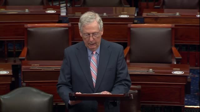 senate majority leader mitch mcconnell of kentucky says on the floor that the coronavirus pandemic originated in china and whether it escaped from a... - whistleblower human role stock videos & royalty-free footage