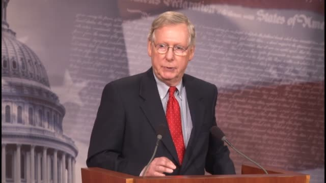 senate majority leader mitch mcconnell of kentucky says one way to measure dysfunction in the senate is the lack of votes on amendments comparing... - {{relatedsearchurl('capsule pipeline')}} stock videos and b-roll footage