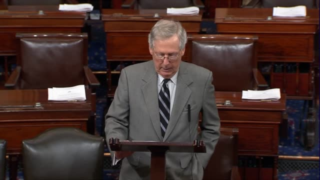 senate majority leader mitch mcconnell of kentucky says that after the people of puerto rico and the united states virgin islands were hit especially... - united states department of defense stock videos & royalty-free footage