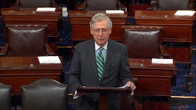 senate majority leader mitch mcconnell of kentucky says the left had been rolling out the same tired playbook for decades back to the candidate and... - nominee stock videos & royalty-free footage