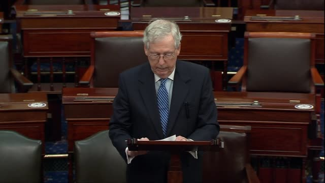 senate majority leader mitch mcconnell of kentucky says the winds of change were blowing across the middle east thanks in large part to work of the... - human face video stock e b–roll