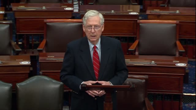 senate majority leader mitch mcconnell of kentucky says two days after the 2020 presidential election was called for joe biden that the system would... - partisan politics stock videos & royalty-free footage