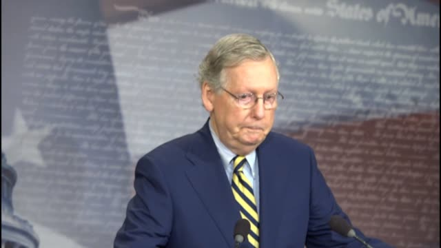 Senate Majority Leader Mitch McConnell of Kentucky tells reporters at a briefing before the election that the political environment where Hillary...