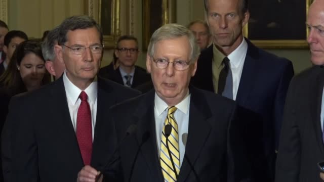 Senate Majority Leader Mitch McConnell of Kentucky tells reporters at a regular weekly briefing that the idea behind tax reform is not to diminish...