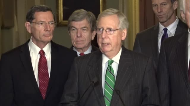 Senate Majority Leader Mitch McConnell of Kentucky tells reporters at a regular weekly briefing that he will continue to schedule confirmation votes...