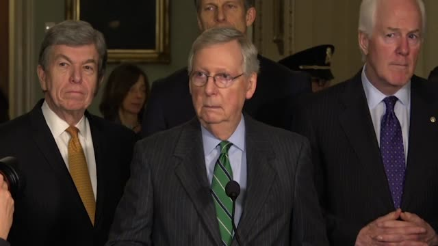 Senate Majority Leader Mitch McConnell reiterates at a weekly press briefing that he would bring up Deferred Action for Childhood Arrivals program...
