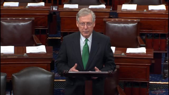 Senate Majority Leader Mitch McConnell remarks in opening a floor session on the intentions of the top Democrat on the Judiciary Committee to do some...