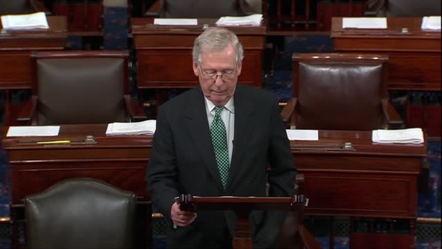 Senate Majority Leader Mitch McConnell says as a supplemental FBI background check on Supreme Court nominee Judge Brett Kavanaugh wound down that the...