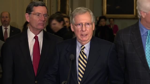 Senate Majority Leader Mitch McConnell says at the first press briefing of 2018 that bipartisan negotiations between Congress and the Trump...