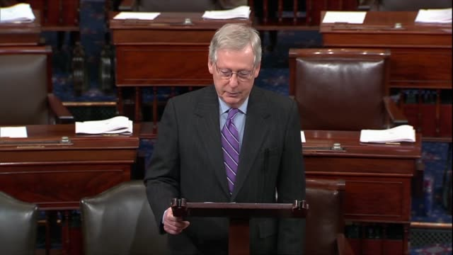 senate majority leader mitch mcconnell says barbara bush embraced the mantle of america's grandmother with selfdeprecating humor plainspoken humility... - humility stock videos and b-roll footage