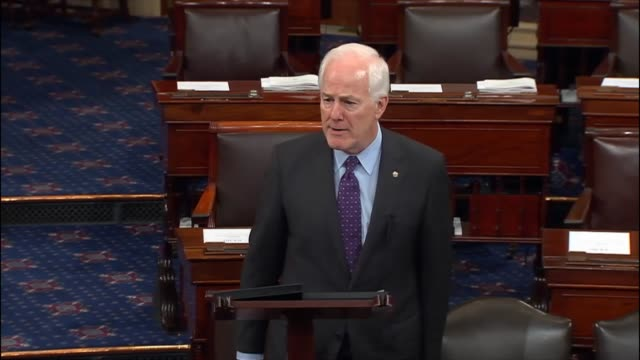 vídeos y material grabado en eventos de stock de senate majority whip john cornyn says that the 2016 election brought opportunities to turn the direction of the country around but having listened to... - polarizador