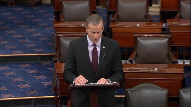 senate majority whip john thune of south dakota says it may be easy for human beings to turn their backs on injustice reluctant to speak out... - bundesgesundheitsamt der usa stock-videos und b-roll-filmmaterial