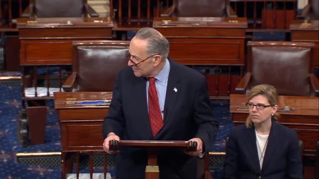 Senate Minority Leader Charles Schumer of New York says on the floor that he wants to remain and remind House Republicans of a few things that made...