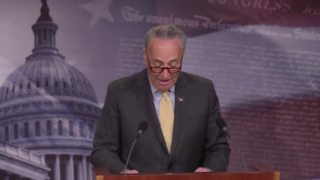 stockvideo's en b-roll-footage met senate minority leader chuck schumer calls for the resignation of us attorney general jeff sessions for possible inappropriate contact with russian... - procureur generaal