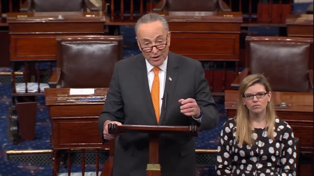senate minority leader chuck schumer majority leader mitch mcconnell on his position, schumer dismisses assertions of republicans, criticizes the... - lowering stock videos & royalty-free footage