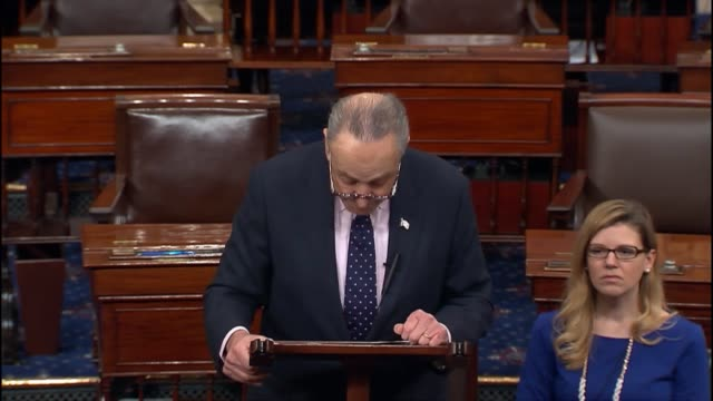 senate minority leader chuck schumer of new york argues that it is absolutely essential that the senate has a chance to appropriately that nominees... - double chance stock videos & royalty-free footage