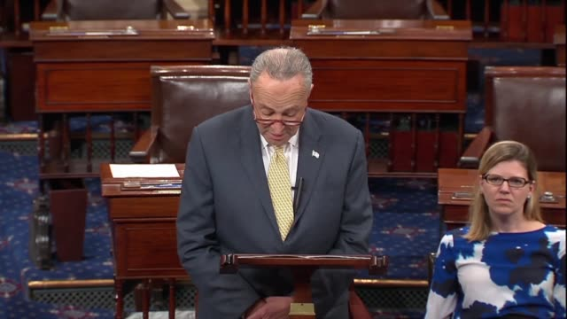 senate minority leader chuck schumer of new york contends days after a renewed fbi background investigation into supreme court nominee judge brett... - testimony stock videos & royalty-free footage