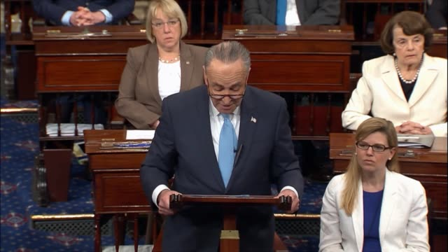 senate minority leader chuck schumer of new york continues floor remarks the day after fbi director jim comey was fired by president donald trump... - latitude stock videos & royalty-free footage