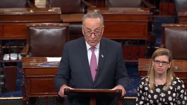 vídeos de stock, filmes e b-roll de senate minority leader chuck schumer of new york discusses a bill introduced by house republicans to replace the affordable care act, arguing that... - new age
