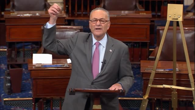 Senate Minority Leader Chuck Schumer of New York discusses a constructive meeting held between he Nancy Pelosi and President Donald trump the night...