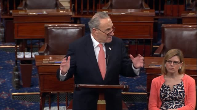 senate minority leader chuck schumer of new york discusses the fiscal 2018 budget release of president donald trump calling it fantasy math that... - sledgehammer stock videos & royalty-free footage