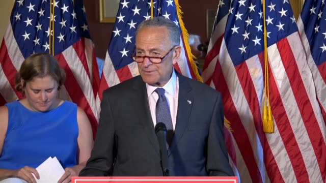 senate minority leader chuck schumer of new york makes a clarion call to rise up before so many can no longer get insurance over preexisting... - samuel alito stock videos & royalty-free footage