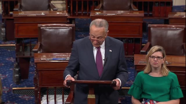 senate minority leader chuck schumer of new york says a day after president donald trump nominated judge brett kavanaugh to the supreme court that... - nomination stock videos & royalty-free footage