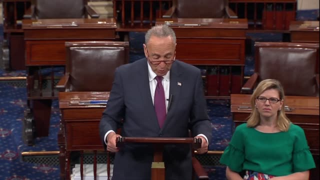 senate minority leader chuck schumer of new york says a day after president donald trump nominated judge brett kavanaugh to the supreme court that... - brett kavanaugh stock videos and b-roll footage