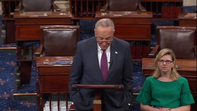 senate minority leader chuck schumer of new york says a day after president donald trump nominated judge brett kavanaugh that his background as a... - brett kavanaugh stock videos and b-roll footage