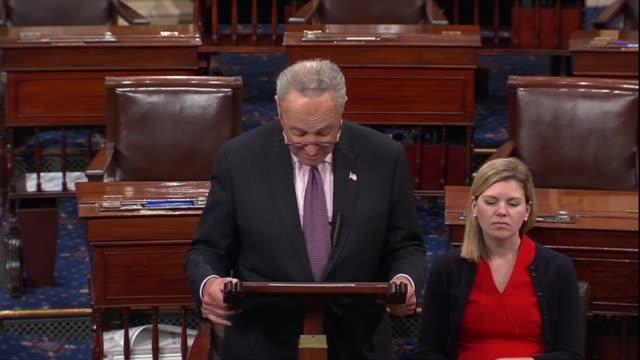 senate minority leader chuck schumer of new york says after judge brett kavanaugh answered a questionnaire of the judiciary committee that many... - brett kavanaugh stock videos and b-roll footage