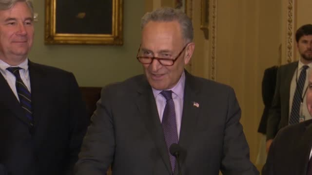 senate minority leader chuck schumer of new york says after the philadelphia eagles were disinvited by president donald trump over actions during... - philadelphia eagles stock videos & royalty-free footage